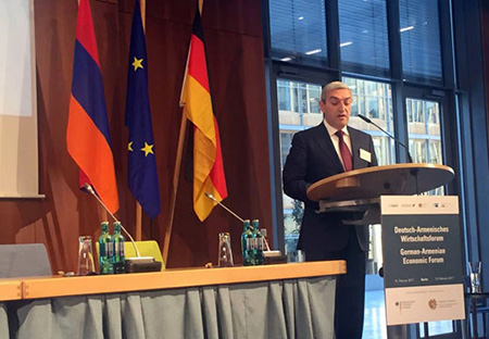 Mr. Vahan Martirosyan Introduced the Achievements in the Ministry's Fields of Activity in Germany, Stressing the Importance of the North-South Road Corridor Investment Program
